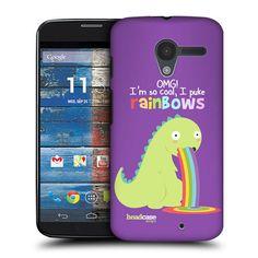 Head Case Long Dinosaur Rainbow Puke Snap on Back Case Cover for Motorola Moto X | eBay