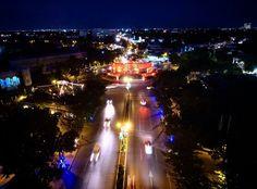 Luces de noche en la ciudad. #Mérida