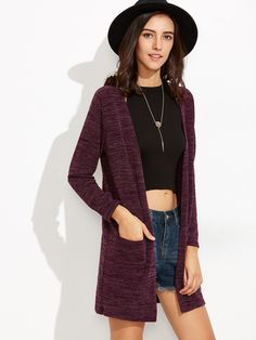 Purple Pockets Long Cardigan — 0.00 € ---------------------------color: Purple size: one-size