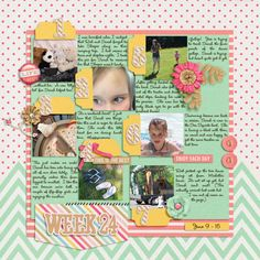 Layout: Week 24 by Alohacowgirl Template: Weekly Project Templates Reason CTM Loves: I'm loving all of her Weekly Pages. This is her latest one. I love the tabs with the numbers and the close up of the eyes. She's doing a great job capturing her year.