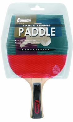 Franklin Sports Table Tennis Competition II Paddle by Franklin. $9.70. Our Franklin Sports Table Tennis paddle features a 5-ply plywood handle with red and black pips out rubber facing.  It also has 1.5 mm sponge backing, colorful tapered edges and a laminated concave shaped handle.