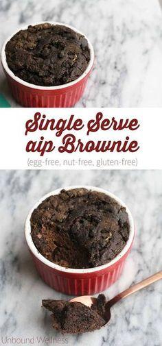Single Serve AIP Brownie (Egg-free, nut-free, gluten-free)
