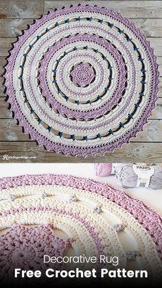 Decorative Rug Free Crochet Pattern #crochet #crafts #homedecor #handmade #homemade #style
