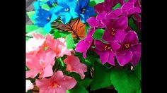 Paper Flowers African Violets \ Saintpaulia (flower # 88)