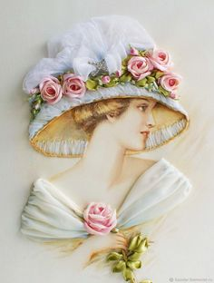 Wonderful Ribbon Embroidery Flowers by Hand Ideas. Enchanting Ribbon Embroidery Flowers by Hand Ideas. Silk Ribbon Embroidery, Rose Embroidery, Embroidery Stitches, Embroidery Patterns, Machine Embroidery, Ribbon Art, Ribbon Crafts, Flower Crafts, Pinturas Art Deco