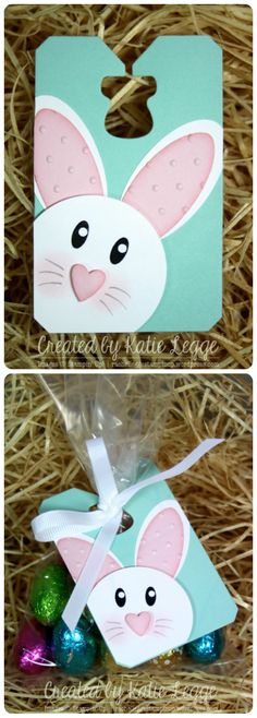 Stampin' Up! Simple and Easy Easter Bunny Tags Tutorial - Great to Decorate Bags of Easter Eggs | Created by Katie Legge rachelleggestampinup.wordpress.com #Easter #Bunny #StampinUp #PunchArt