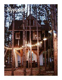 One view of this awesome treehouse...follow link to see another view of the hom. Poppytalk summer2015  A lifestyle publication to celebrate ten years online.