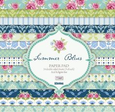 So many papers, so many things to make and do, so coordinated, so pretty... Bloc Scrap SummerBlue