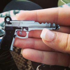 Schlage 45 caliber gun design key blank