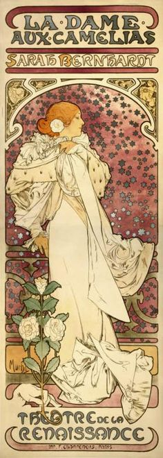 """""""La Dame aux Camelias,"""" a lithograph poster by Alphonse Mucha, is the centerpiece of """"Views from the Vault."""""""