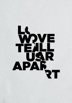Poster / LOVE WILL TEAR US APART Art Print by Three of the Possessed