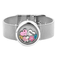 Q&Locket I Love You Mom Baby Floating In Glass Living Memory Bangle Locket Bracelet >>> Check out this great product.