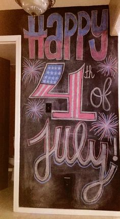 My 4th of July chalk wall art work❤️