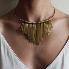 Brass Fringe Necklace http://shopsoko.com/collections/sc2013-kenya/products/gabriel-brass-fringe-necklace
