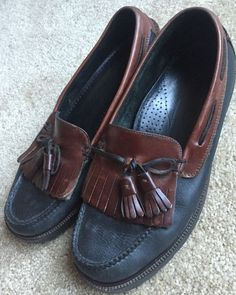 Cole Haan Brown Leather Tassel Loafers Men's Sz. 9.5 D Made in USA