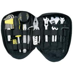 44pc Motorcycle SAE & Metric Tool Kit, Set includes: zippered pouch, multi-tool pliers, Gift Boxed-