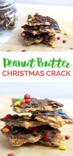 This Peanut Butter Christmas Crack is nothing short of AMAZING. Melt in your mouth good. It's a great homemade gift idea too! #Christmascrack #saltinecrackers