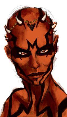 Zabrak doodle by Strazari.deviantart.com on @DeviantArt