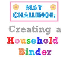 The O.C.D. Life: May Challenge: Household Binder (Wrap-up & Printables)