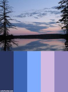 Sunset On Lac Tessier Color Scheme from colorhunter.com