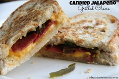 Candied Jalapeno Grilled Cheese Sandwich (with bacon!)