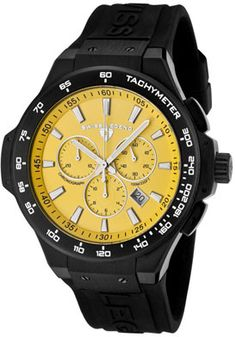 SWISS LEGEND 40051-BB-07-R Men's Maverick Chronograph Black Rubber Watch