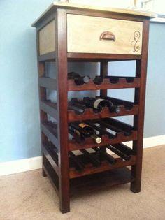 Wine Rack - Distressed Wine Table - Shabby Chic Wine Rack - Rustic Wine Cart on Etsy, $140.00