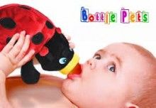 Bottle Pets bottle covers turn feeding time into cuddle time with a plush and snuggly bottle cover. These adorable pets are a super-soft and super-cute update to boring plastic bottles. Choose from Riley the Bunny, Sammy  the Bulldog, Charlie the Dinosaur, Bailey the Cow, Drew the Ladybug, or Dylan the Octopus. Bottle pets make a great baby shower gift or a unique gift for your child. The pet helps insulate the bottle to keep fluids warm or cool.