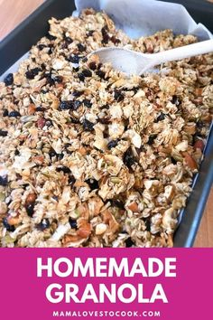 This homemade granola recipe is way better than any shop-bought granola you will find. Perfect for a healthy and filling breakfast! Sugar Free Granola, Easy Granola Recipe, Easy Holiday Recipes, Dried Apples, Delicious Breakfast Recipes, Morning Food, Homemade, Cook, Home Made