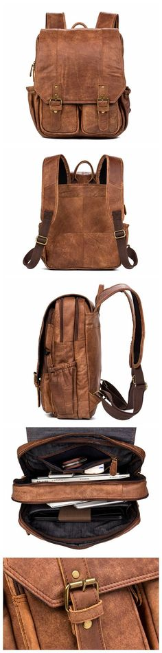 Vintage Leather Backpack College Backpack School Backpack - Sale! Up to 75% OFF! Shop at Stylizio for women's and men's designer handbags, luxury sunglasses, watches, jewelry, purses, wallets, clothes, underwear & more!