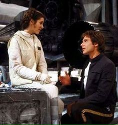 "Carrie Fisher and Harrison Ford - Han & Leia ""Star Wars Episode V: The Empire Strikes Back"""