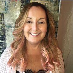 The beautiful @krecsygirl  and her new pink locks! #Repost @pams_beauties #pamsbeauties #hairbypam #elumen #elumencolor #elumenhaircolor #goldwell #goldwellcolor #balayage #balayagebypam #hairpainting #yegsalon #yeghairsalon #yegstyle #yegstylist #yeghairstylist #yegwomen #yeghair #jigsawforhair  #aveda #kevinmurphy #madeinyeg #yeg #yegbeauty #yegdt #yegfashion #yegcolorist #yegsalons #behindthechair #modernsalon
