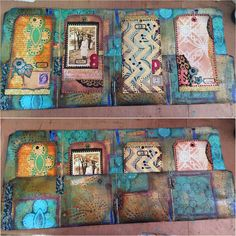 File Folder Mini Art Journal by Gwen Lafleur with StencilGirl Products