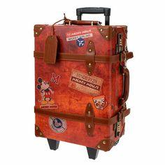 $7450 東京迪士尼 復古米奇 旅行箱 行李箱 - 50x32x20cm