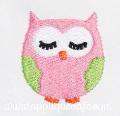 Mini Embroidery Owl Design