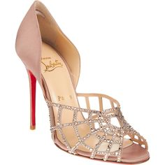 Not just any shoe; it's Christian Louboutin