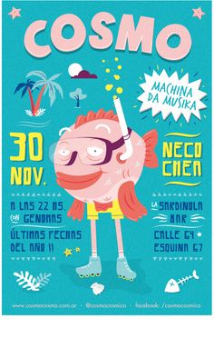 Posters | Cosmo Summer Tour by The Negra, via Behance