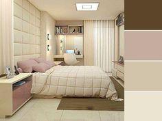 20 paletas de cores para quarto de casal para usar na decoração