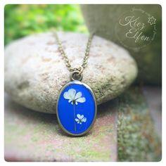 """Blütenschmuck - Kette zweisam """"Wilde Möhre Blüten"""" togehter blau - ein Designerstück von Kiezelfen bei DaWanda"""