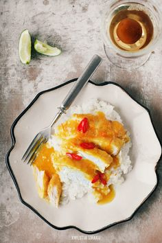 Chicken breast baked in orange & ginger sauce