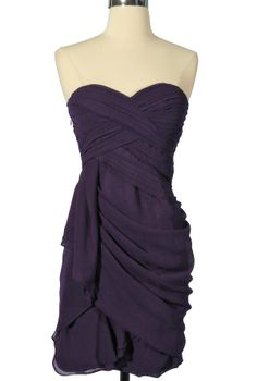 Dreaming of you chiffon drape party dress in royal purple by minuet. Lilyboutique.