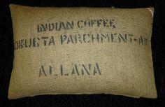 """Kissenbezüge - Kaffeesack Kissenbezug """"Allana"""", 60 x 40cm - ein Designerstück von vansten-design bei DaWanda"""
