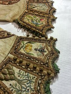 Isis' Wardrobe: 17th century embroidery at the Royal Armoury in Sweden...bees