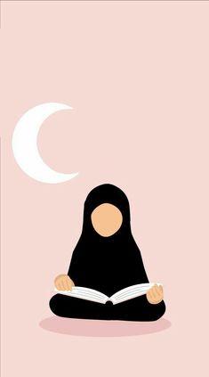 Ride the Qur'an for Ramadan🌙 Muslim Girls, Muslim Couples, Muslim Women, Niqab, Girl Cartoon, Cartoon Art, Photo Islam, Hijab Drawing, Islamic Cartoon