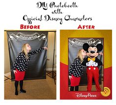 DIY Photobooth with Official Disney Characters using this app for iPhone and Android