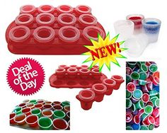 #Partytime, #deals, Ice Shot Glass Mold Kit with Tray, Bonus/ Free - 50 - 2 Oz #JelloShot Cups/ Containers with Lids Party Set! Unlock the Possibilities with this Fun/ Reusable/ All in One kit. Make Unique Cocktails and Be the Life of the Party. Jello Jiggler's, Jagermeister Shots, Hard Candy, Coke, Root Beer, Juice or Chocolate Glasses filled with Ice Cream or Baileys. Who Needs Syringes When You Have This Set. Click the Add to Cart Button Now To Get This Party Started. LBJ PS…