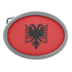 Albanian  flag Belt Buckle
