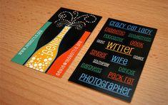 Colorful, illustrator business card by JS3 Design.