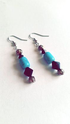 Hey, I found this really awesome Etsy listing at https://www.etsy.com/listing/225125658/turquoise-and-black-glass-beaded