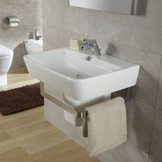 "Found it at Wayfair - Emma Semi 22"" Wall Mounted Bathroom Sink with Overflow"
